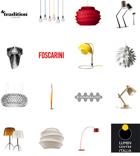 Univers luminaires - Foscarini, Kundalini, & Tradition, Muuto, Lumen Center